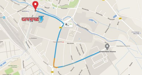 Zmiana adresu - mapa